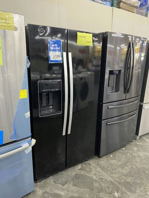 New Whirlpool side by side refrigerator in black for Sale in Chino Hills, CA