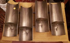 Heavy guage metal pillar candle holder..holds 4 candles..20x14 for Sale in St. Louis, MO