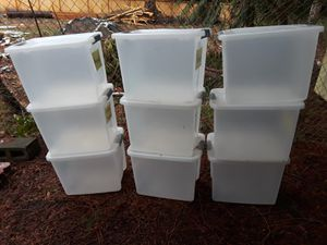 9 sterilite storage containers for Sale in Sumner, WA