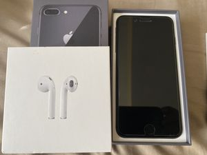 iPhone 8plus AirPod and 4 cases for Sale in Chicago, IL