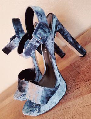 Brand New Madden Girl Velvet Grey/Blue Heels for Sale in Chula Vista, CA