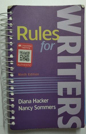 Rules for Writers (Ninth Edition) for Sale in NORTH PENN, PA