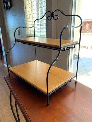 Longaberger Wrought Iron Small Bakers Rack W/Shelf's for Sale in Rancho Cucamonga, CA