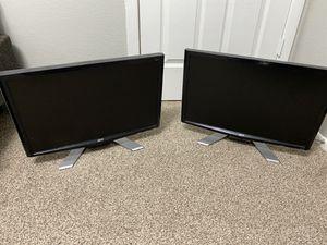 2 computer monitors for Sale in San Antonio, TX