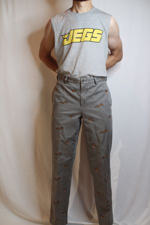MENS Ralph Lauren grey pants with mallards for Sale in Englewood, CO