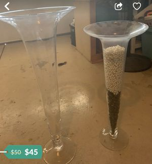 Pretty fluted vases for a wedding for Sale in Phoenix, AZ