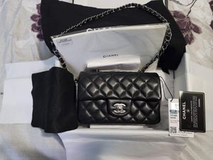 New Chanel Rectangular Mini Black Lambskin Leather Purse Authentic for Sale in Alhambra, CA