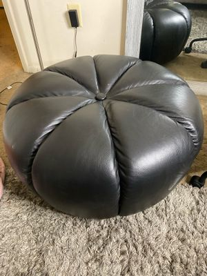 Black leather leg rest chair for Sale in MD CITY, MD