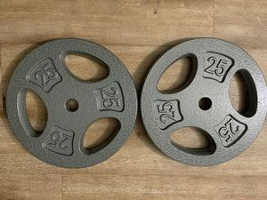 """CAP 25lb weight plates 1"""" (set of 2) NEW for Sale in San Diego, CA"""
