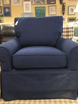 Deep Navy Chair/Ottoman for Sale in Bellevue,  WA