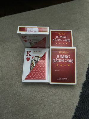 Play Right Jumbo Playing Cards - New, Unopened- Easy to Shuffle - For kids play or people with vision issues or anyone for Sale in Chicago, IL