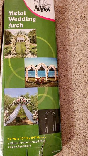 """adorox metal wedding arch 52""""x15"""" x94"""" for Sale in Palmdale, CA"""