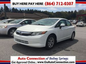 2012 Honda Civic LX Sedan 5-Speed AT for Sale in Boiling Springs, SC