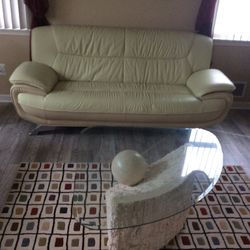 Italian Leather Sofa Set With Tables for Sale in Woodbridge Township,  NJ