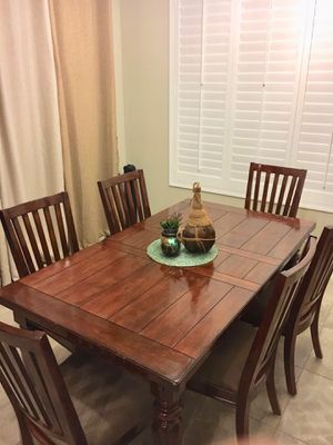 Wooden dining table set with 6 chairs for Sale in Chandler, AZ