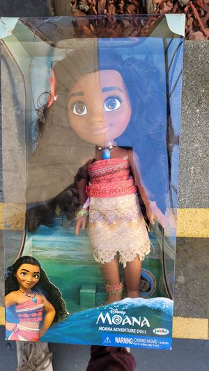 Disney Moana Adventure Doll 14 Inches Doll With Accessories for Sale in San Jose, CA