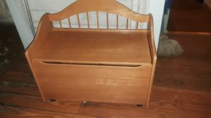 Solid wooden chest with storage for Sale in Lexington, KY