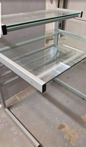 Heavy duty metal and glass desk for Sale in Los Angeles, CA