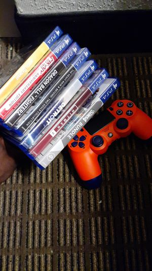 7 ps4 games + DBZ color way controller for Sale in Jacksonville, FL