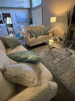 Glass Coffee Table , Console Table & Two End Tables for Sale in Corona,  CA