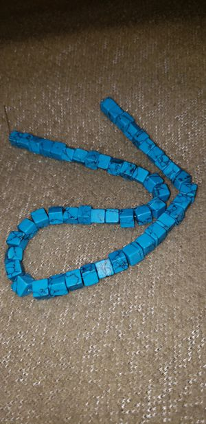 Turquoise cube beads for Sale in Auburndale, FL