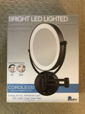 New! Zadro Next Generation LED Lighted Cordless Bathroom Mirror for Sale in Winchester, CA