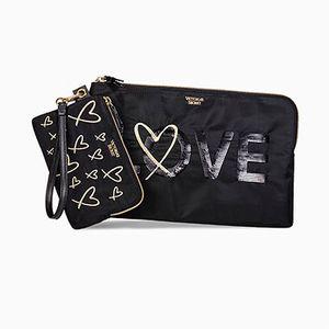 Victoria Secret Love Clutch Set for Sale in El Paso, TX