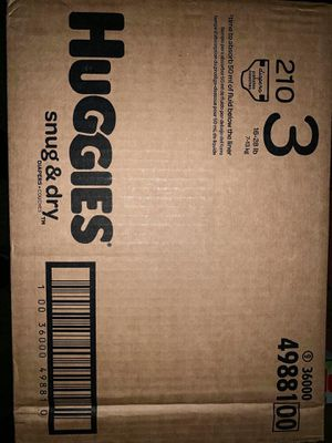 Huggies diapers size 3 Snug Dry for Sale in Downey, CA
