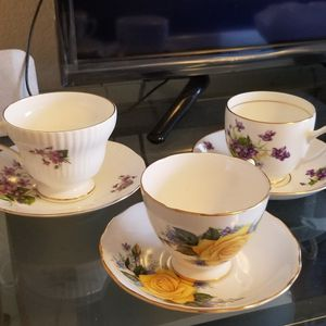 Tea cups and saucers bone china made in england for Sale in Vancouver, WA