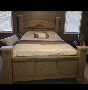 Queen Bed - head board, foot board and frame only for Sale in Allentown, PA