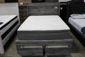Queen Storage Bed Frame, Grey, #B221 for Sale in Downey, CA