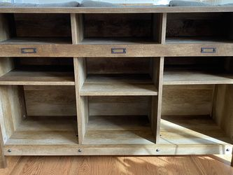Gray Wash Credenza (adjustable lower shelves) for Sale in Snoqualmie,  WA