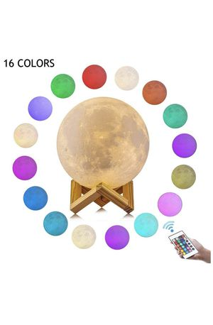 3D Moon Lamp 16 Colors 5.9 inch Night Stand Light Lunar with Remote,Hanging Light, Brightness Control, Touch Control | Night Rechargeable Moon Globe for Sale in Montclair, CA