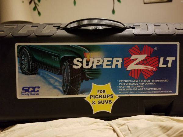 Snow chains. Brand new, never used in original packaging