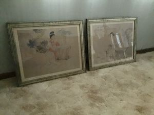 """Set Of 2 Asian themed wall pictures in glass 22""""x18"""" for Sale in Pontotoc, OK"""