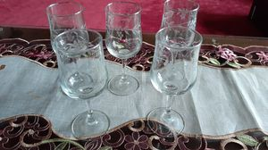 Vintage Arcoroc French etched stemware. for Sale in Kingsley, PA