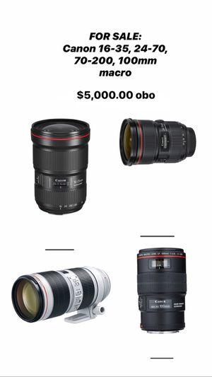 Canon EF lenses for Sale in Redondo Beach, CA
