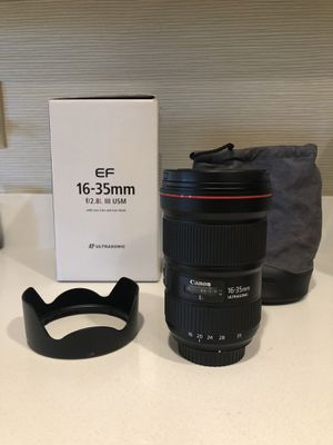 Like new Canon 16-35 f2.8 iii wide angle lens for sale! - $1700 for Sale in Lawrenceville, GA