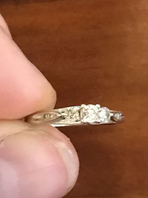 Engagement ring 10k white gold for Sale in Longmeadow, MA