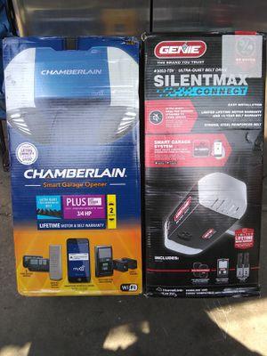 Chamberlain & Genie 3/4 hp garage door opener for Sale in Compton, CA