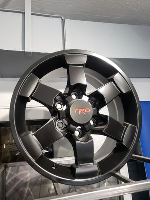 16x8 TRD replica satin black fits: Tacoma , 4runner for Sale in Chandler, AZ