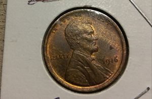 Beautiful Toning mint luster 1916 MS 65 RB Lincoln 1 Cent for Sale in Nokesville, VA