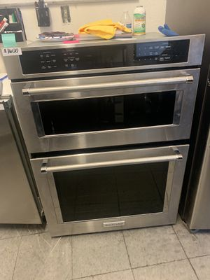 Kitchenaid microwave oven combo 30 wide stainless steel 2019 for Sale in Santa Ana, CA