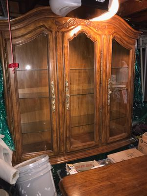 VERY NICE BIG BEAUTIFUL STRONG CHINA CABINET CHEST FOR SALE for Sale in Bellevue, WA