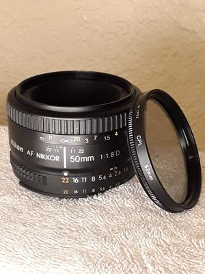 Nikon 50mm 1.8 D Prime lens for Sale in Tempe, AZ