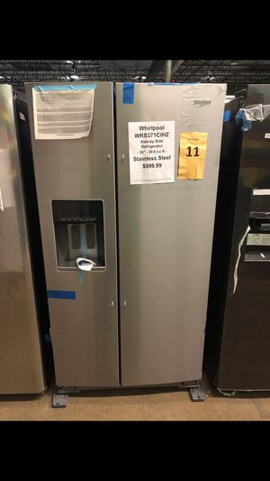 Whirlpool stainless steel side by side!! for Sale in New Lenox, IL