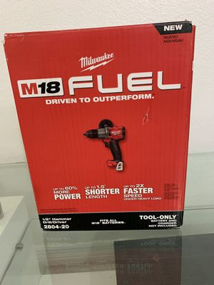 """Milwaukee M18 FUEL 18V 1/2"""" Hammer Drill/Driver(tool only) for Sale in Coral Gables, FL"""