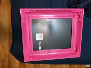 Pink picture frame 7 1/4 inches by 9 1/4 inches for Sale in Colorado Springs, CO