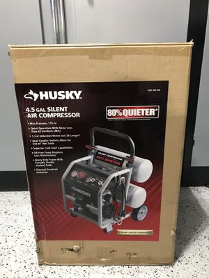 Husky 4.5 gallons silent air compressor for Sale in Lemont, IL