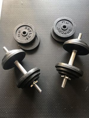 Adjustable dumbbells 120-lbs for Sale in Poulsbo, WA